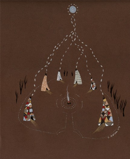 katyart, katy horan, moonvillage, etsy, teepee, art