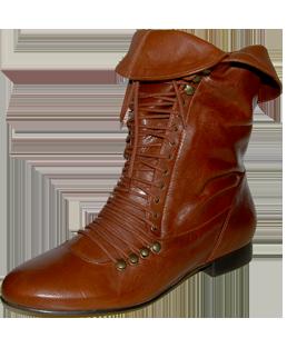 laceup boots, satine, devotte