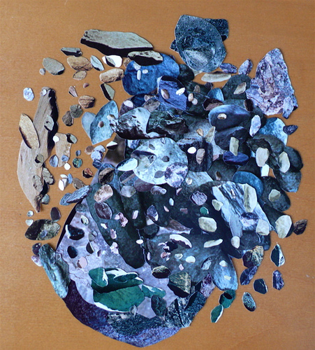 steven eichhorn, rock collage, art