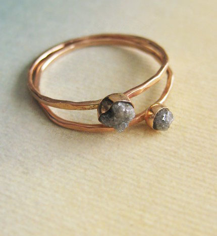 kate szabone, rough diamond ring, etsy, jewelery, thelooksee