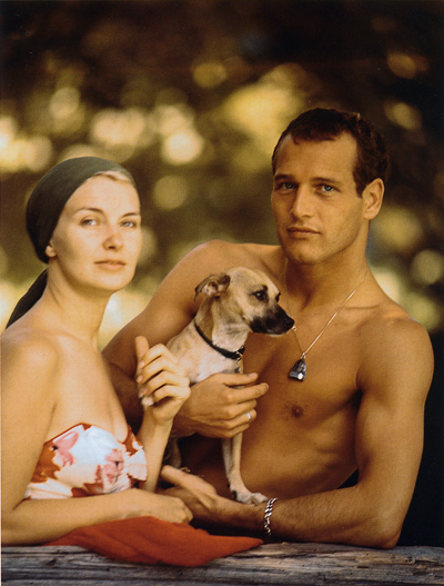 paul newman, joanne woodward, dog, thelooksee