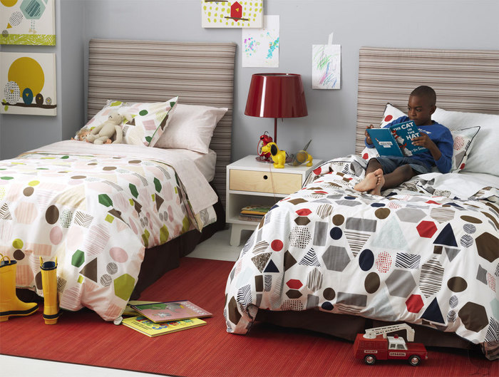 dwell, geometric, kids, duvet, the looksee