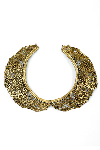 aurelie bidermann, gold lace choker, necklace, the looksee