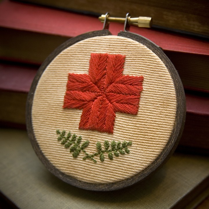 miniature rhino, etsy, sampler, embroidery, swiss cross, the looksee