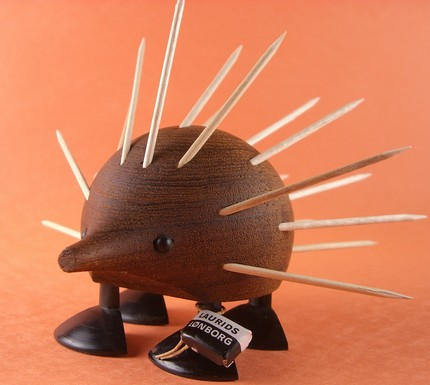 peacockenvy, danish modern, porcupine, etsy, wooden, thelooksee