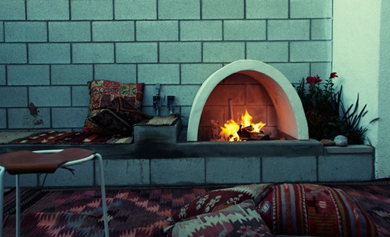 ace hotel, patio_w_fireplace, palm springs, thelooksee