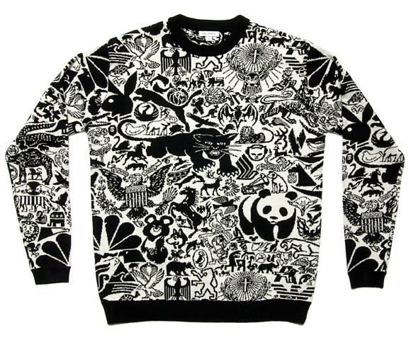 karl grandin, animal logo sweater, design, textiles, the looksee