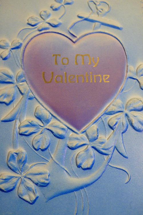 vintage valentine postcard, thelooksee
