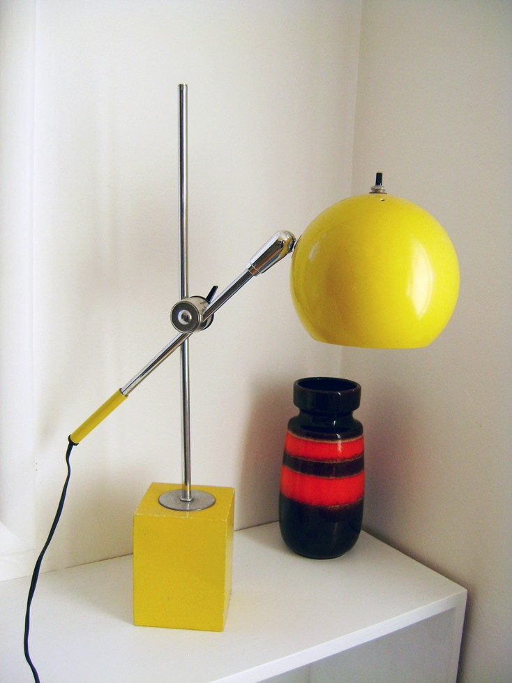 thebrickhouse, yellow mod lamp,  desk, office, shop, etsy, thelooksee