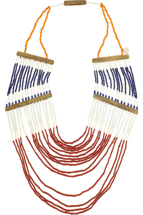 by malene birger, intan necklace, native american, beaded, fashion, the looksee
