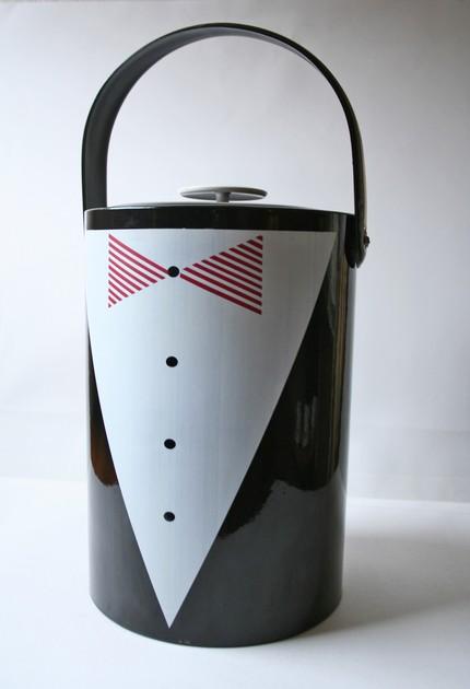 modish vintage, briard, tuxedo ice bucket, thelooksee
