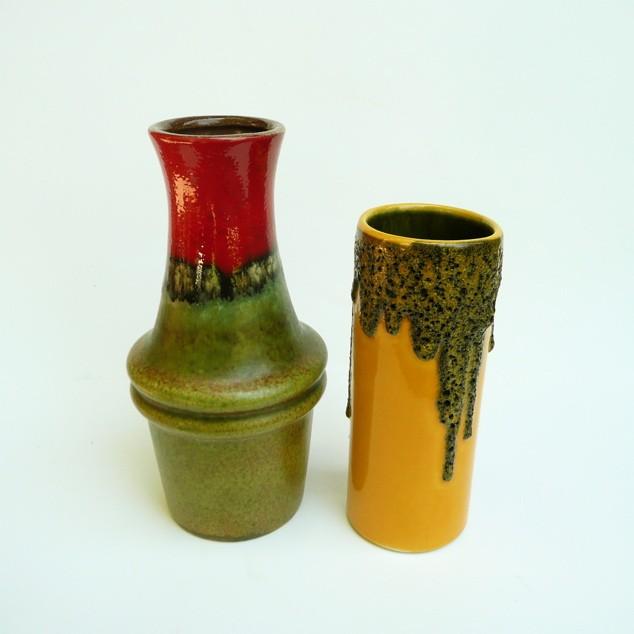 found vintage style, drip german vases, vintage, ceramic, etsy, thelooksee