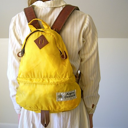 jessjamesjake, yellow backpack, european, travel, thelooksee