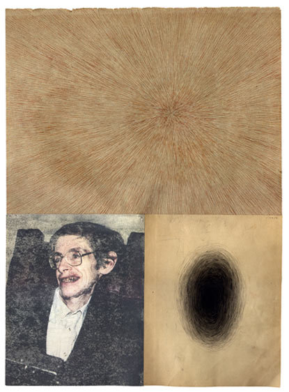 zachary rossman, portrait of stephen hawking, art, singularity, black hole, print, thelooksee