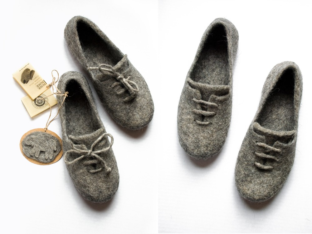 ingoote, felt, slippers, wool, oxfords, house shoes, the looksee