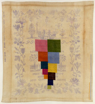 stephen sollins, needlepoint, vintage, repurpose, art, craft, thelooksee