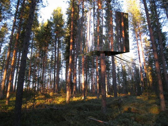 tham & videgard, architecture, sweden, treehouse, camoflage, thelooksee