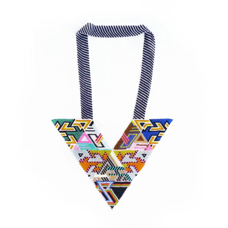 broken fab, necklace, jewelry, beaded, psychedelic, design, uk, thelooksee