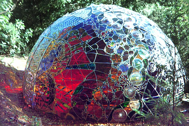 wholeo, dome, geodesic, stained glass, art, sculpture, thelooksee