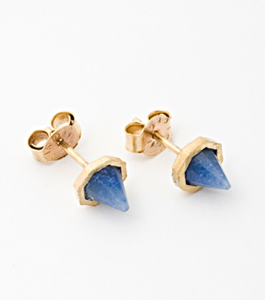 katie diamond, spike studs, earrings, thelooksee