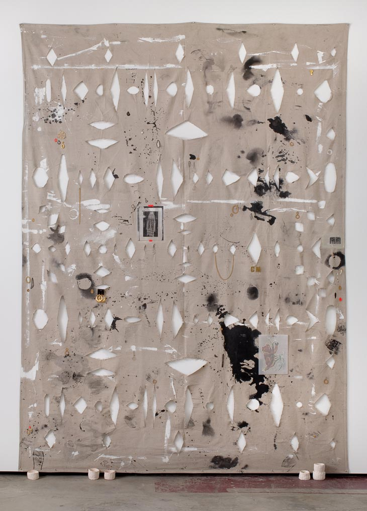 amanda ross-ho, sieve, art, fine art, canvas, installation, the looksee