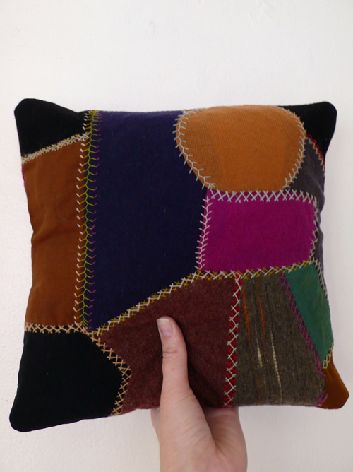 thelooksee, vintage, pillow, found, vintage, thrift, crazy quilt