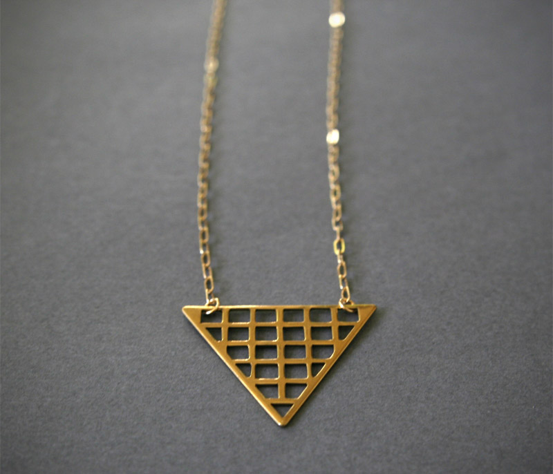 the look see, thelooksee, etsy, jewelry, triangle, grid, pyramid