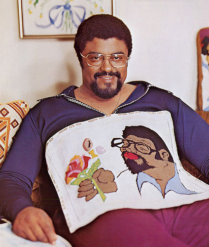 rosey grier, needlepoint, football, novelty, book, vintage, the looksee