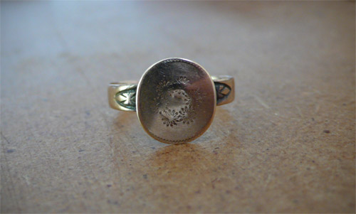 ring, vintage, civil war, american, jewelry, adornment, etching, mourning, the look see