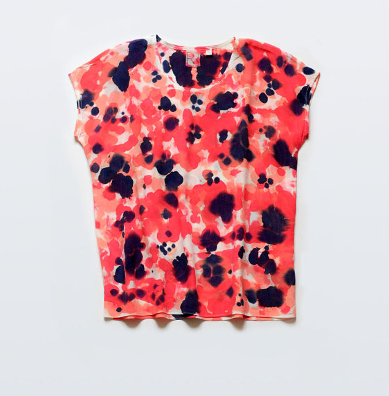 splotch, handpainted, shirt, by rachel rose, etsy