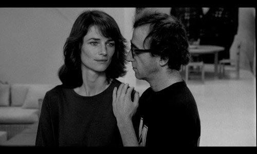 stardust memories, screengrab, woody allen, charlotte rampling, film, the look see