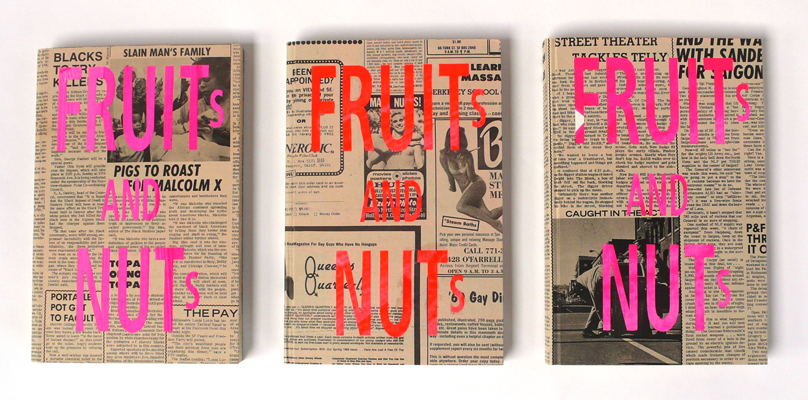 book, fruits & nuts, california, handmade, silkscreen, ooga booga, los angeles, the look see