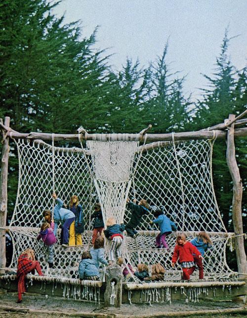 macrame, park, 70's, art, kids, vintage, yarn