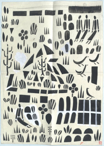 deco, textiles, matilde flogl, black and white, drawing